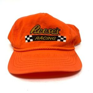 Vintage Reeses Racing Snapback Hat Orange Cap